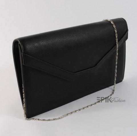 a455eaafed1 Стилна вечерна дамска чанта тип клъч плик официална подходяща и за  абитуриентски бал 21191 черна без лак